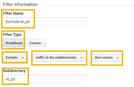 exclude page builder pages from google analytics