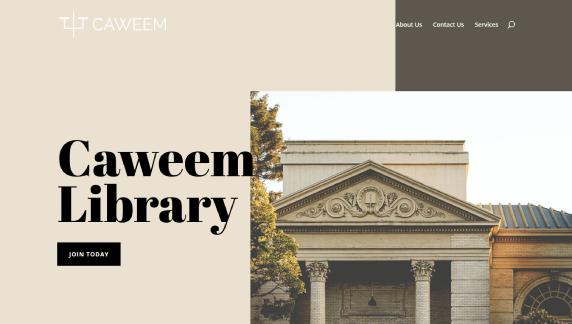 divi review of divi templates using the library template for caweem