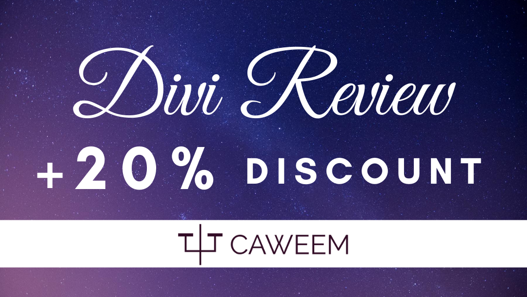 divi review and special 20% off Divi discount coupon code
