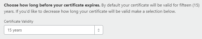 choose ssl certificate validity to install cloudflare ssl on godaddy