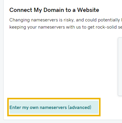 enter my own nameservers on godaddy to install cloudflare ssl on godaddy