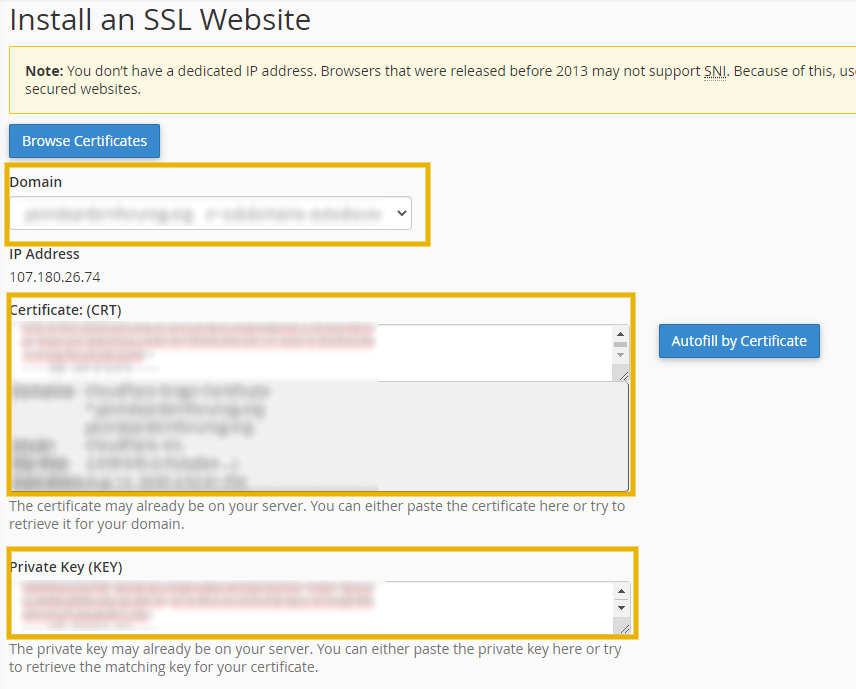 install ssl certificate and key in godaddy to to install cloudflare ssl on godaddy