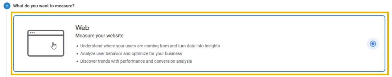 google analytics what do you want to measure