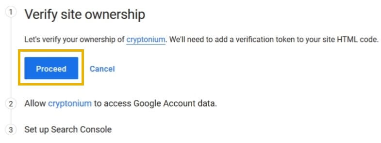 google site kit verify site ownership
