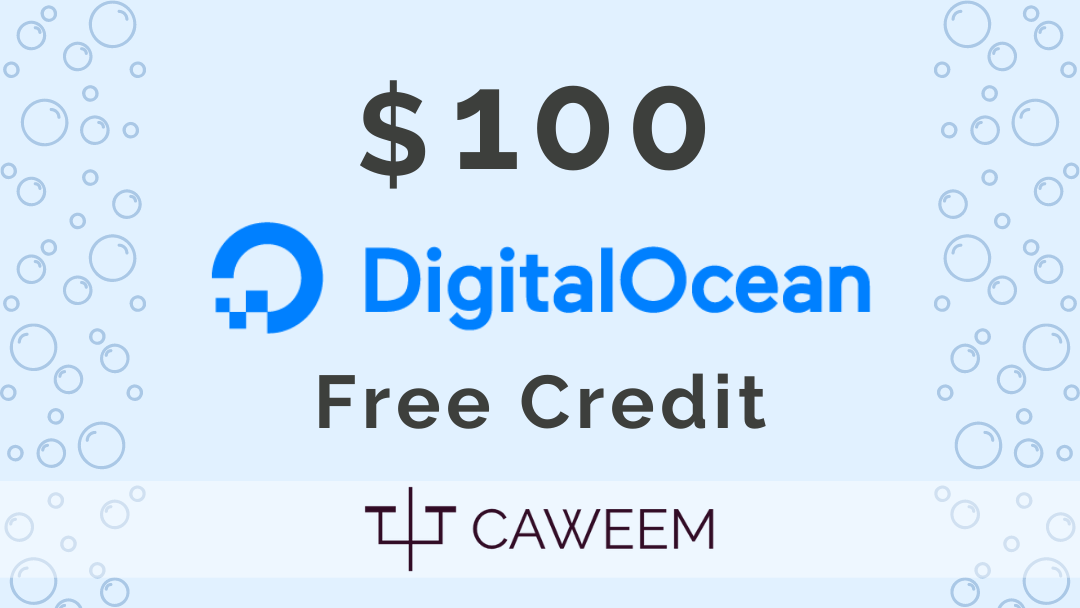 use this $100 digitalocean credit